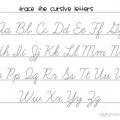 Cursive Handwriting Practice Worksheet