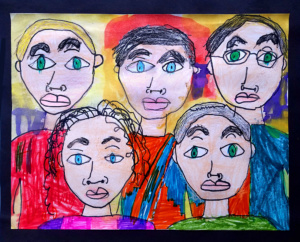 Portrait Art Project for Kids