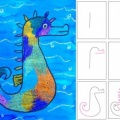 Art Project for Kids- Seashore Drawing Paint