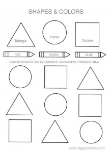 Shapes & Colors Worksheet
