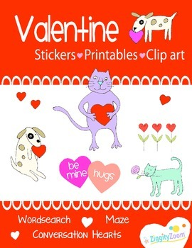 Valentines Day Preschool Kindergarten Workbook Fun