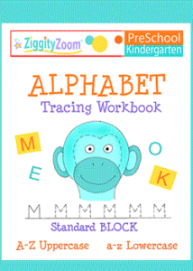 Alphabet Tracing Uppercase & Lowercase Workbook