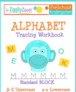 Alphabet Tracing Kindergarten Workbook