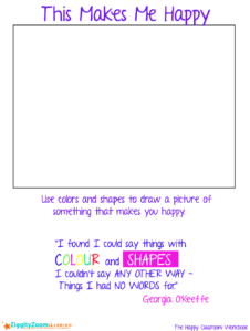Happy Drawing Colors and Shapes Worksheet