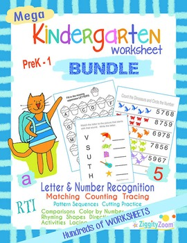 Kindergarten Worksheets Mega Workbook