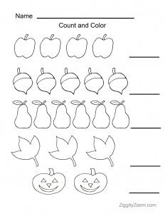 Kindergarten Worksheets- Math & Literacy