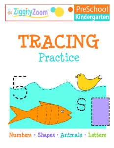 Kindergarten Tracing Practice Workbook