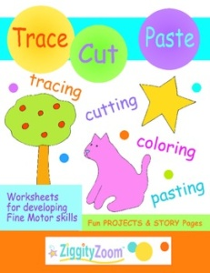 Tracing & Cutting Practice Workbook