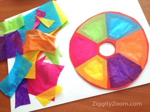 Tissue Paper Sun Catcher Project