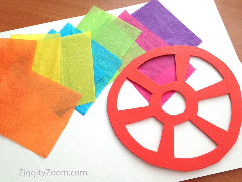 Tissue Paper Sun Catcher Project