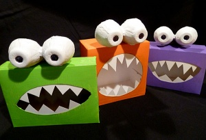 Monster Box Recycled Craft Project