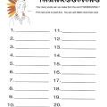 Printable Thanksgiving worksheet