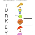 Thanksgiving letter match printable