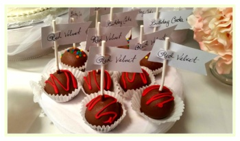 Red Velvet Cake Pops- A favorite treat at any age