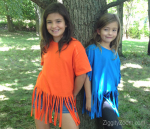 How to Make a Fringed T-shirt