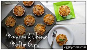 Macaroni& Cheese Muffin Cups Recipe - Kid Friendly