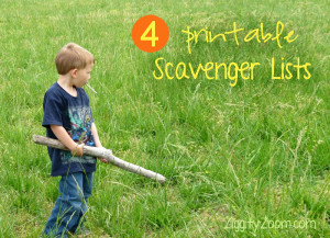 Scavenger Hunt Printables for Kids