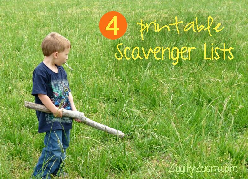 printable scavenger lists
