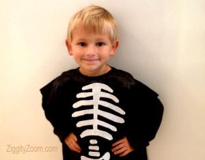 DIY Pillowcase Skeleton Costume for Kids