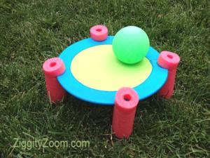 DIY Pool Noodle Game- Bounce Ball (Spike Ball)