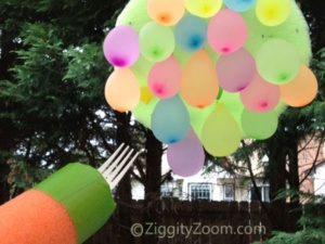 Pool Noodle Game- Water Balloon Jousting Game