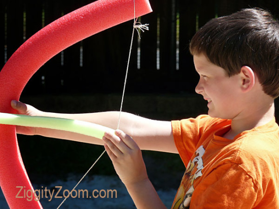 DIY Pool Noodle Bow and Arrow