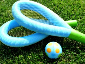 Make a Pool Noodle Racquet Ball Game