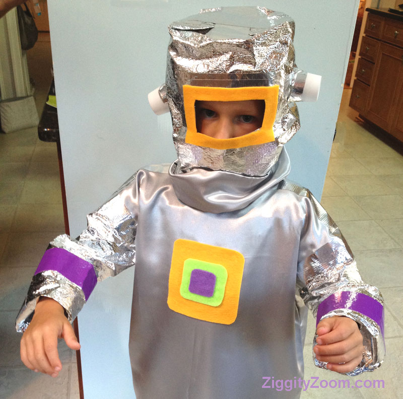 DIY Robot Costume for Kids
