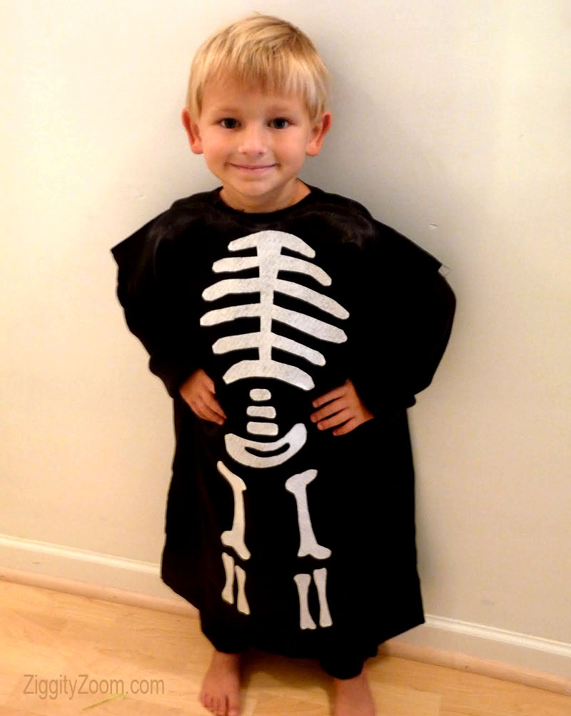 easy diy skeleton costume