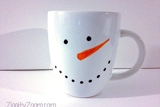 diy snowman craft mug