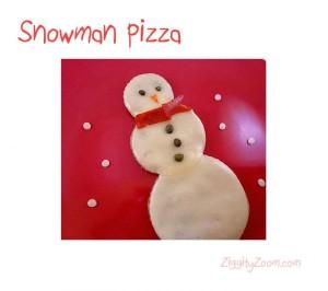 snowman pizza recipe