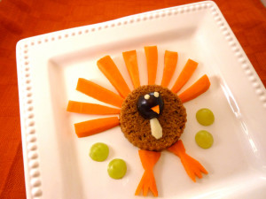 recipe for kids- turkey appetizer plate