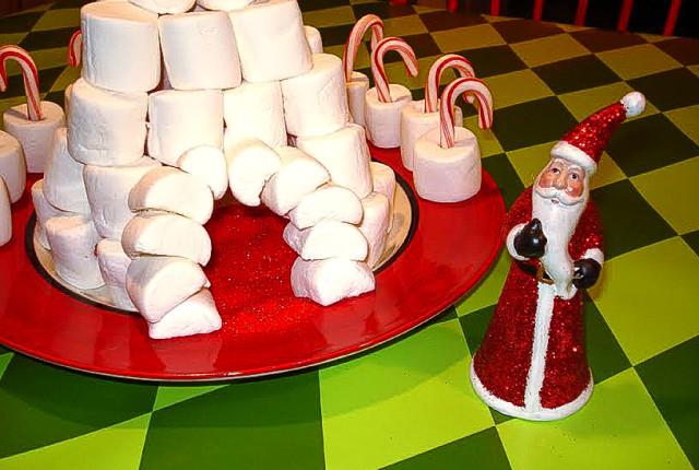 marshmallow igloo kids winter craft