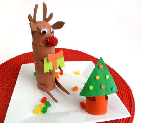 Reindeer DIy Kids Christmas Craft
