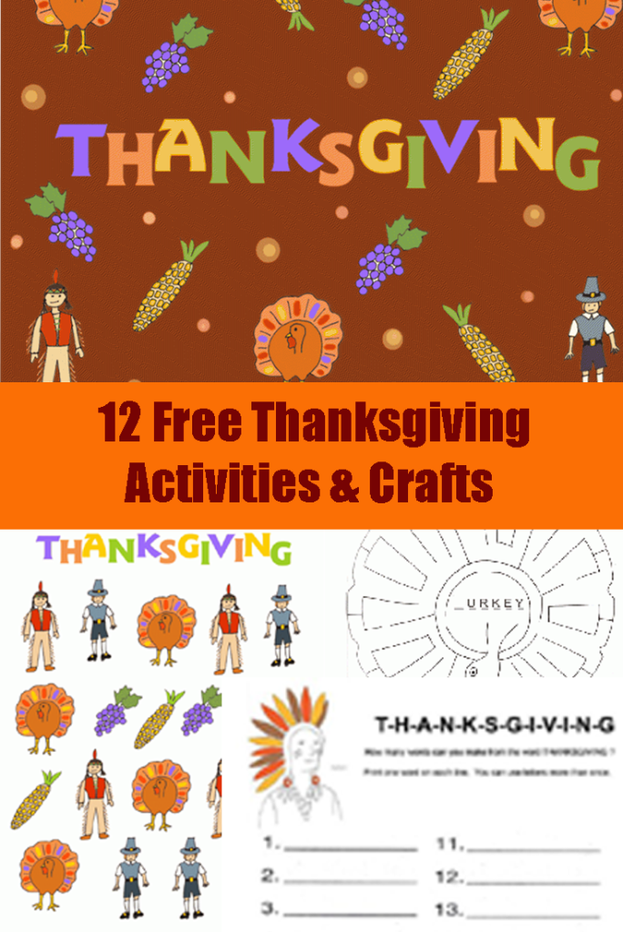 thanksgiving activities, crafts and printables