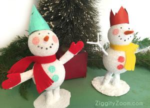 Glittery Snowman Craft