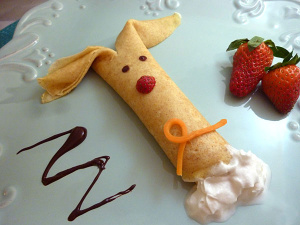 Bunny Crepes Recipe for Easter