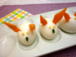 Bunny Hard Boiled Eggs for Brunch