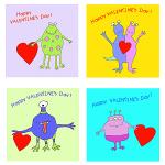Alien Valentine's Cards