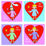 Princess Valentine's Cards