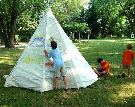 backyard teepee project