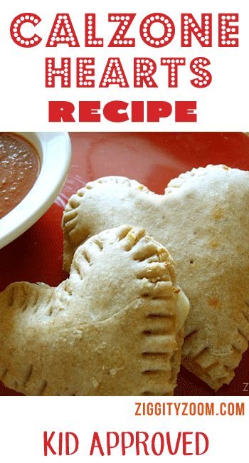 Calzone Hearts Recipe for Kids