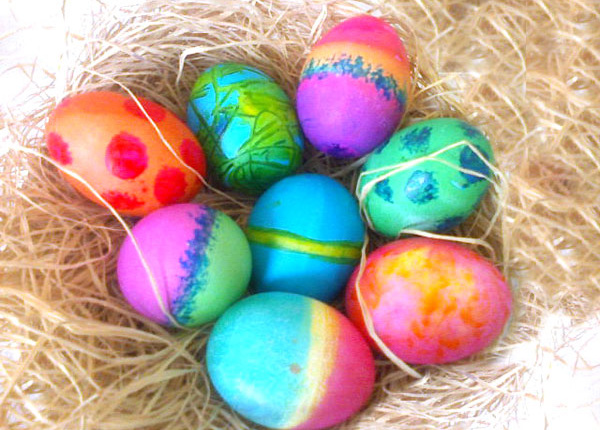 tips for coloring easter eggs