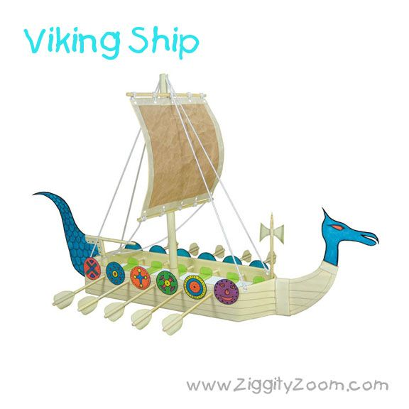 DIY Recycled Craft for Kids- Viking Ship