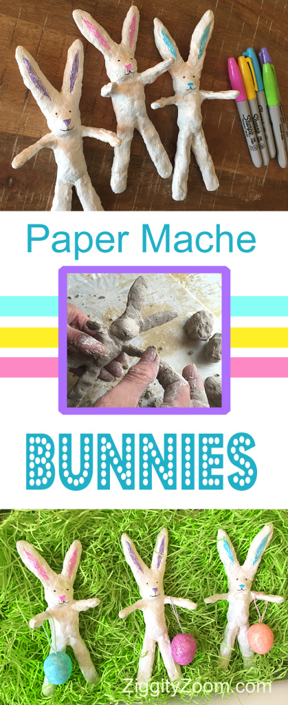 DIY paper mache bunny craft