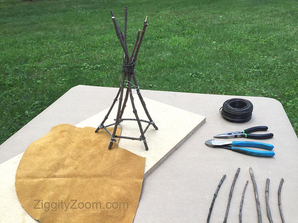 Stick teepee craft
