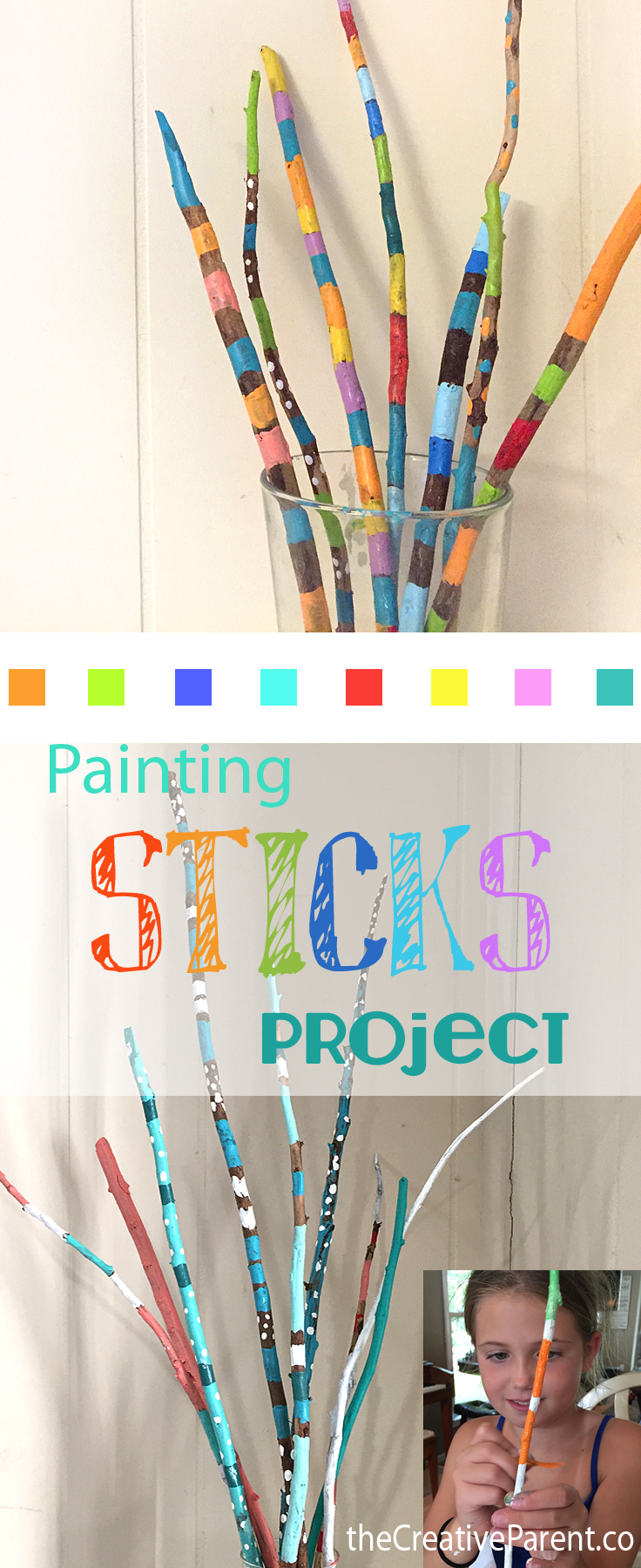 Painted sticks on Pinterest