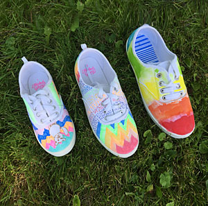DIY fabric shoes