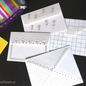 DIY Black & White Note Cards