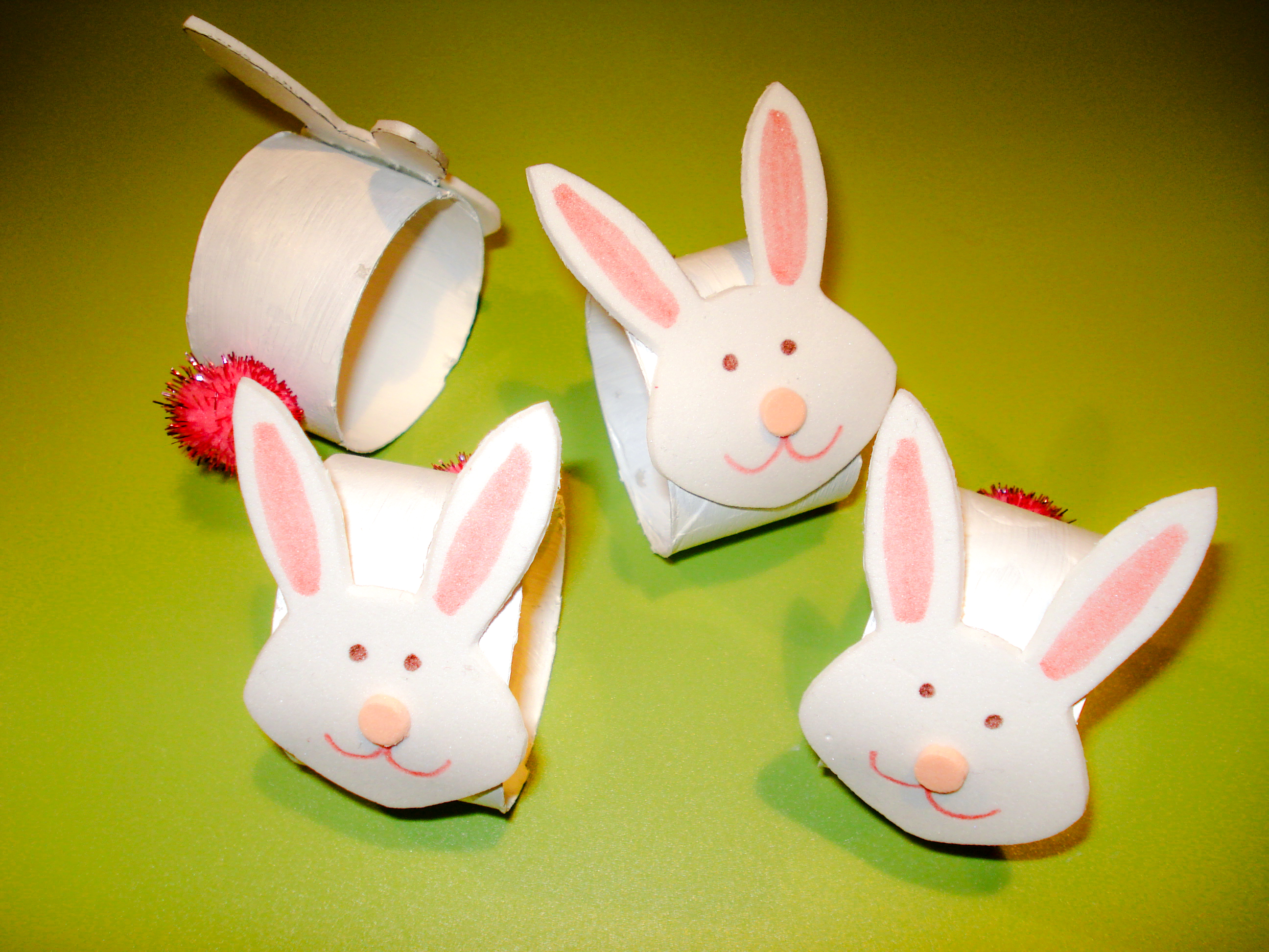 Bunny Napkin Rings Crafts Ziggity Zoom Family